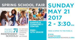 Puget Sound Independent School (PSIS) Spring Admission Fair @ Garfield Community Center   Seattle   Washington   United States
